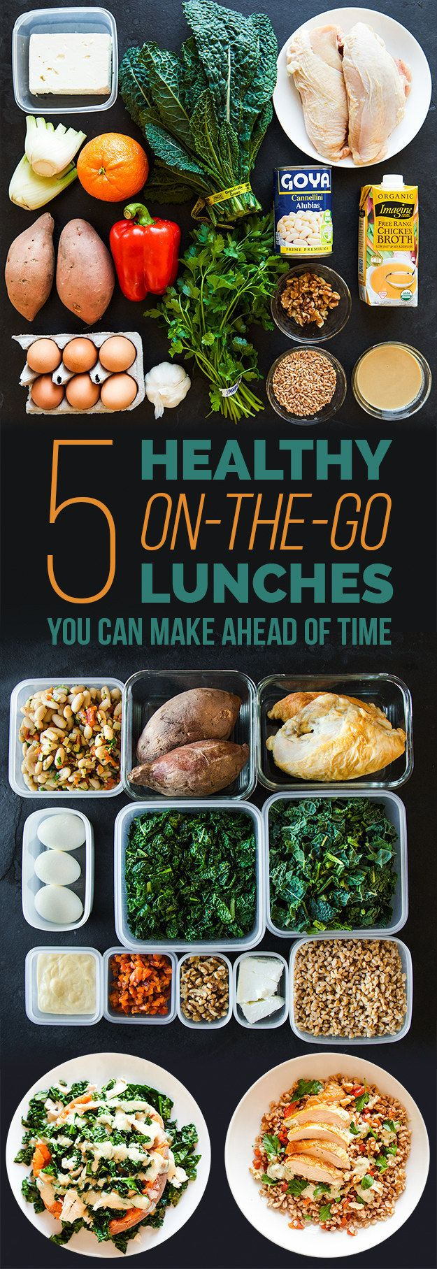 Not great about planning your take-to-work lunches? Here's a step-by-step guide…