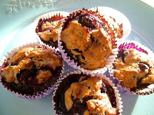Mini havermuffins met blauwe bessen (+prijsvraag!)