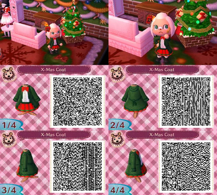 Christmas Qr Codes For Animal Crossing New Leaf
