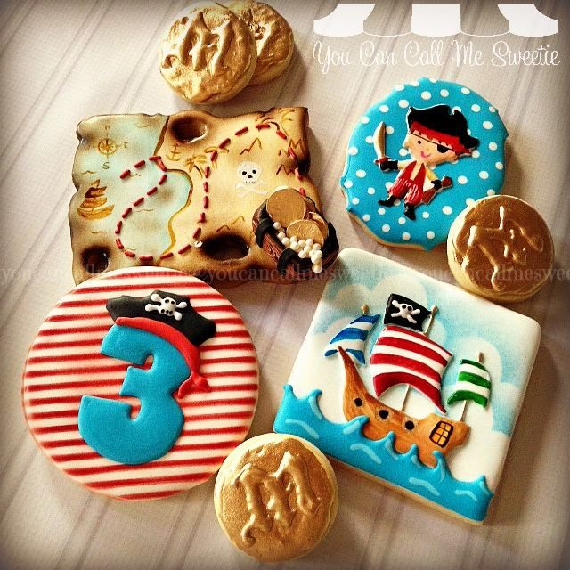 Pirate themed cookies for Miguel's 3rd... - You Can Call Me Sweetie