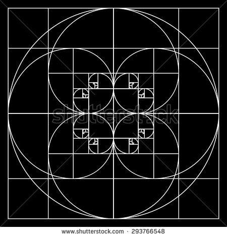 Golden ratio patterns - stock vector
