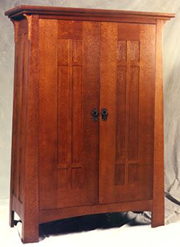 craftsman furniture | Craftsman Armoire - Swartzendruber Furniture Creations