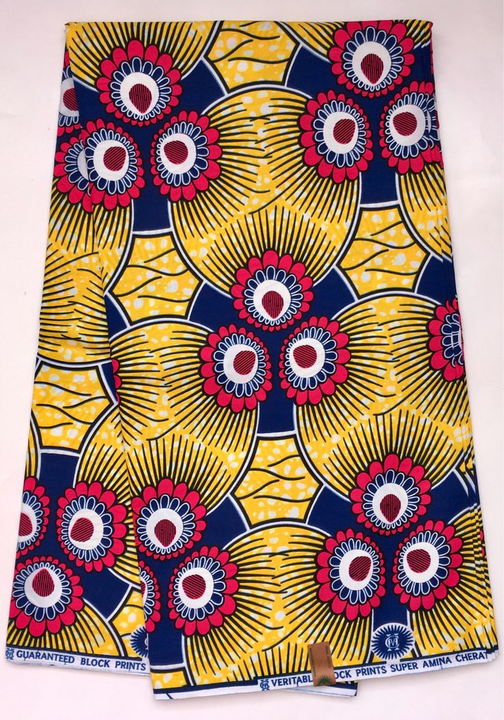 House of Mami Wata African Print Fabrics https://www.etsy.com/listing/553332757/african-print-fabric-ankara-yellow-pink