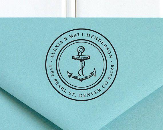 Return Address Stamp Nautical Address Stamp Self Inking