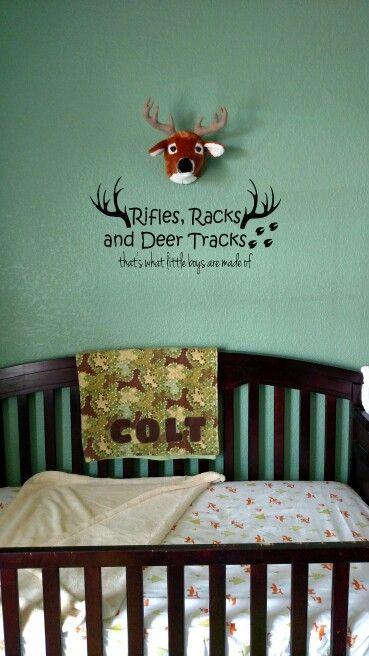 Boys hunting theme nursery