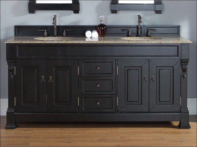 antique black bathroom vanity - 40 Best Black Bathroom Vanities Images On Pinterest Bathroom