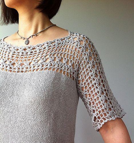 Ravelry: Julia - floral lace tunic pattern by Vicky Chan