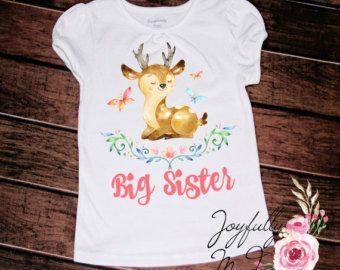 Deer Big Sister Little Sister Shirt - Big Sister Little Sister Set - Big Sister Little Sister Outfit - Sisters Set