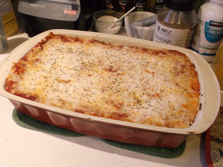 Fresh vegan lasagna