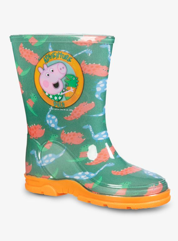 CHILDRENS PEPPA PIG WELLIES KIDS BOYS GIRLS CHARACTER WELLYS BLUE