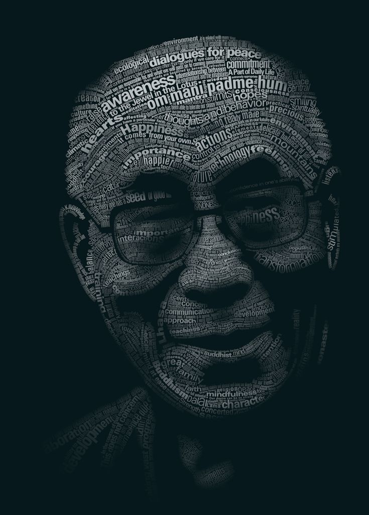 Tribute to the Dalai Lama by yatu-ex: A picture is worth a thousand words ? #Typography #Typography_Portrait #Dalai_Lama #yatu-ex: Temples, Buddhism, Dalai Lama, Art, This Men, Graphics, Portraits, Typography Inspiration