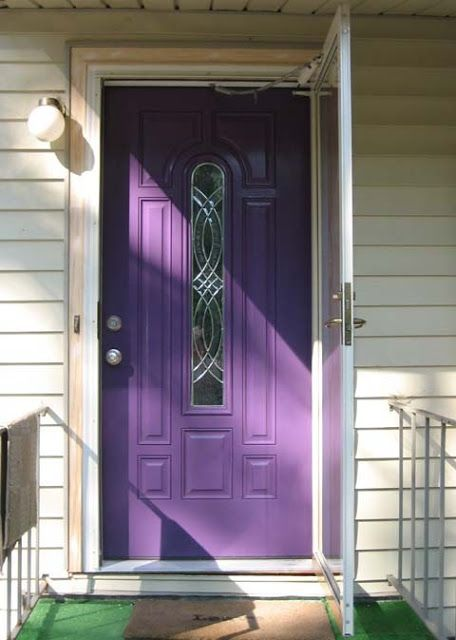 Still have to convince R the purple door is a good thing...