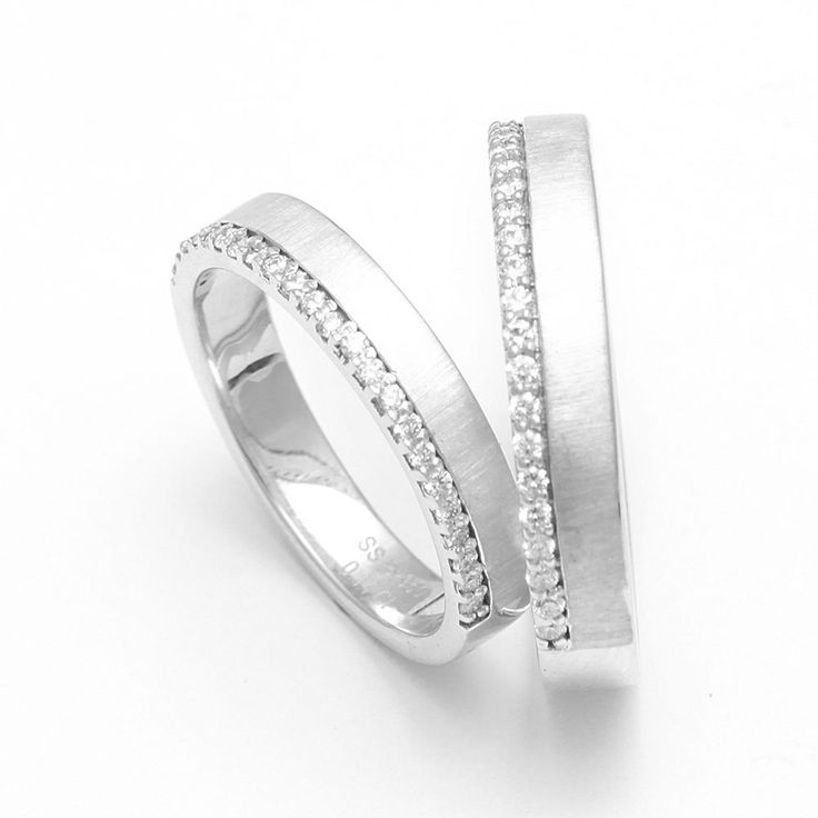 Wedding Anniversary Bands Platinum 950  Promise Foreve Love Couple Rings 1 Pair #SSPlatinum