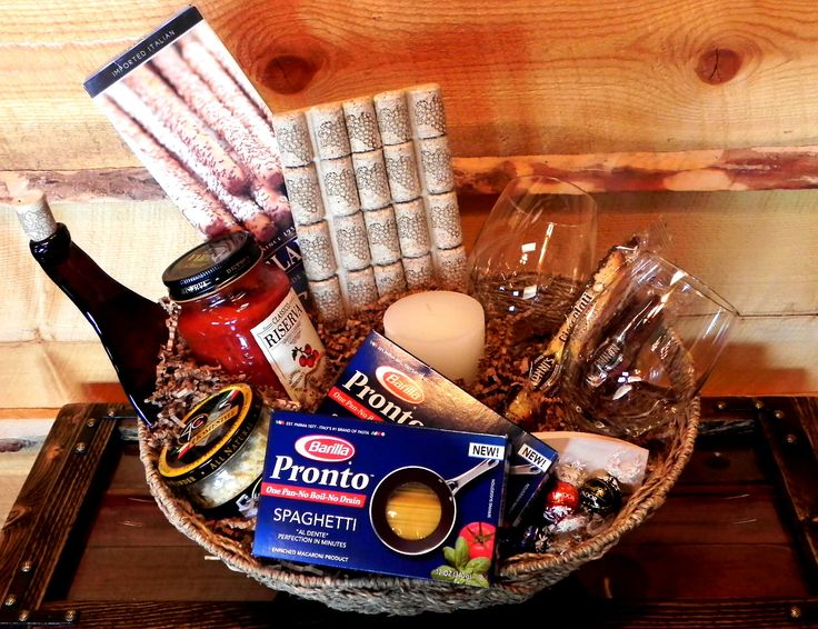 Spaghetti Night Gift Basket complete with a Slumped Wine Bottle Tray and Wine Cork Trivet by CowgirlsReRide on Etsy