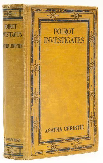Poirot Investigates  Agatha Christie, 1924.    First edition