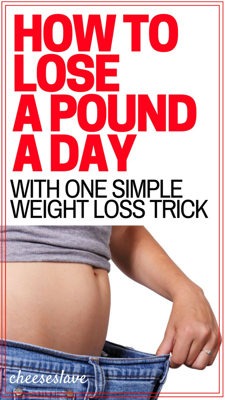 How To Lose a Pound a Day with One Simple Weight Loss Trick