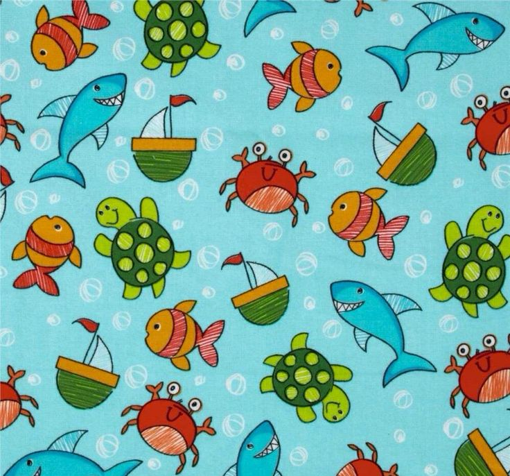 7228 best kids baby ocean animal decorating idea 39 s images for Children of the sea fabric