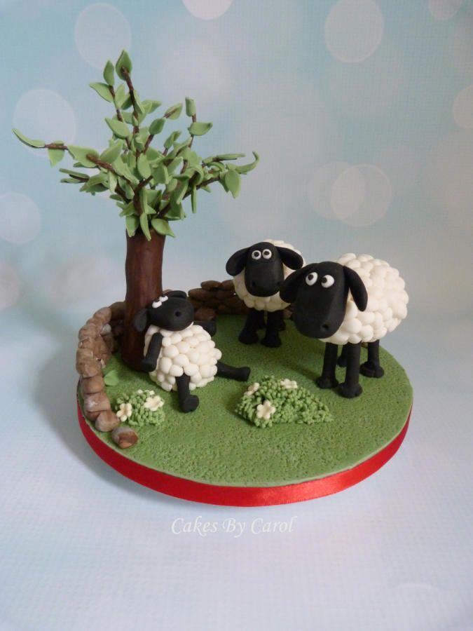 how to make shaun the sheep cake