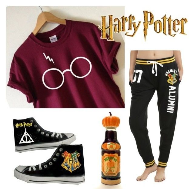 """""""Harry Potter """" by cozettenicole on Polyvore featuring Converse and Warner Bros."""