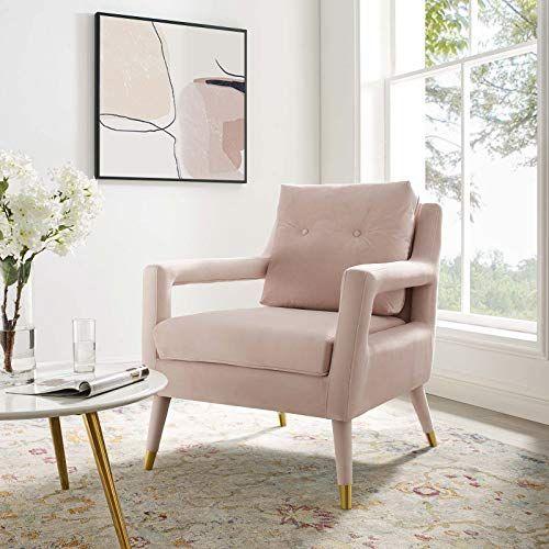 Modway Eei 3457 Pnk Premise Accent Lounge Performance Velvet Armchair Pink Pink Living Room Furniture Velvet Armchair Pink Living Room