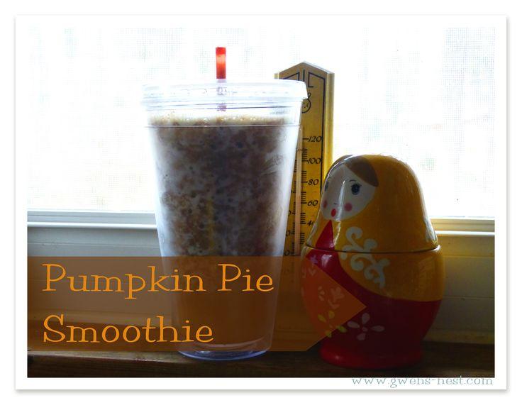 Trim Healthy Mama Book Review - Fuel Pull Pumpkin Pie Smoothie