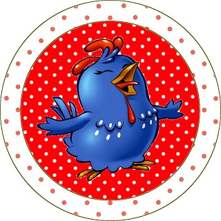 Fazendo a Minha Festa - Kits Completos: Galinha Pintadinha em Vermelho e Branco com Bolinhas - Kit Completo com molduras para convites, rótulos para guloseimas, lembrancinhas e imagens!