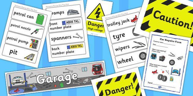Mechanics/Garage Role Play Pack