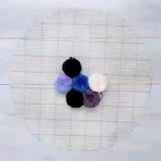 Como fazer tapete de pompom passo a passo