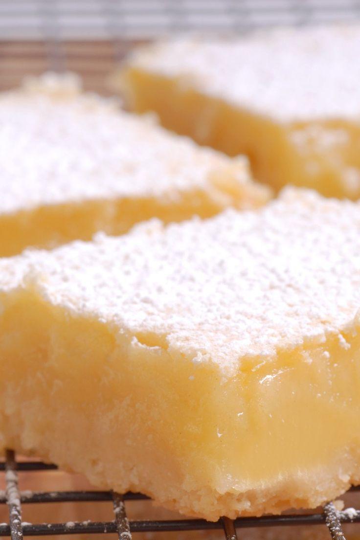 """4 Ingredient Low Carb Lemon """"Cheesecake"""" Bars recipe"""