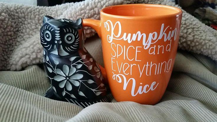 A personal favorite from my Etsy shop https://www.etsy.com/listing/462883694/pumpkin-mug-pumpkin-spice-mug-pumpkin