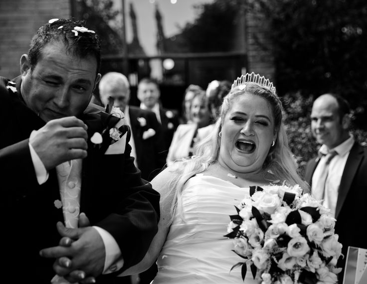 Traditional church wedding photography with the bride & groom at St Martin's Church Hale Gardens, Acton London