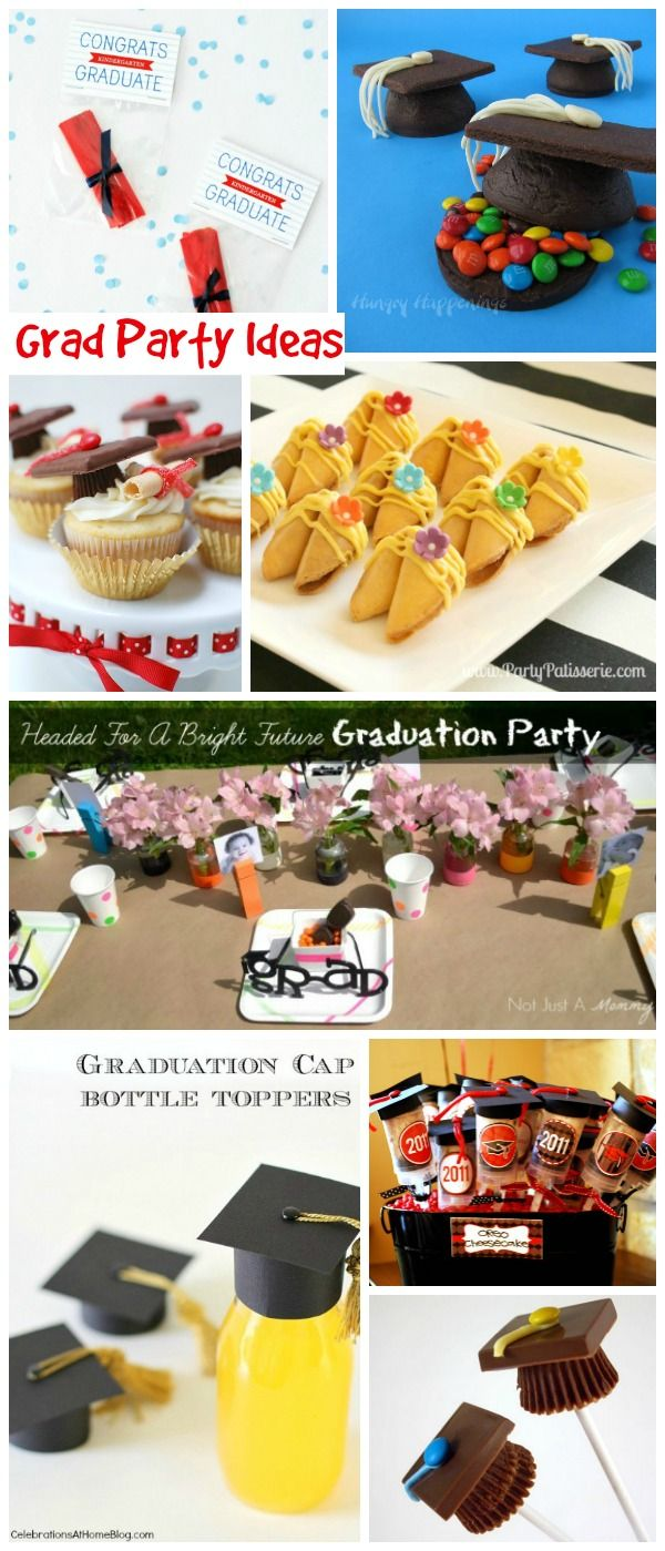 Grad Party Ideas - cute ideas for food, favors, free printables and more. Great for graduation parties for all ages.