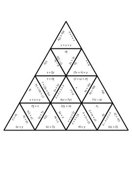 COMMON CORE MATH STATIONS AND GAMES - EQUIVALENT EXPRESSIONS TRIANGLER - TeachersPayTeachers.com