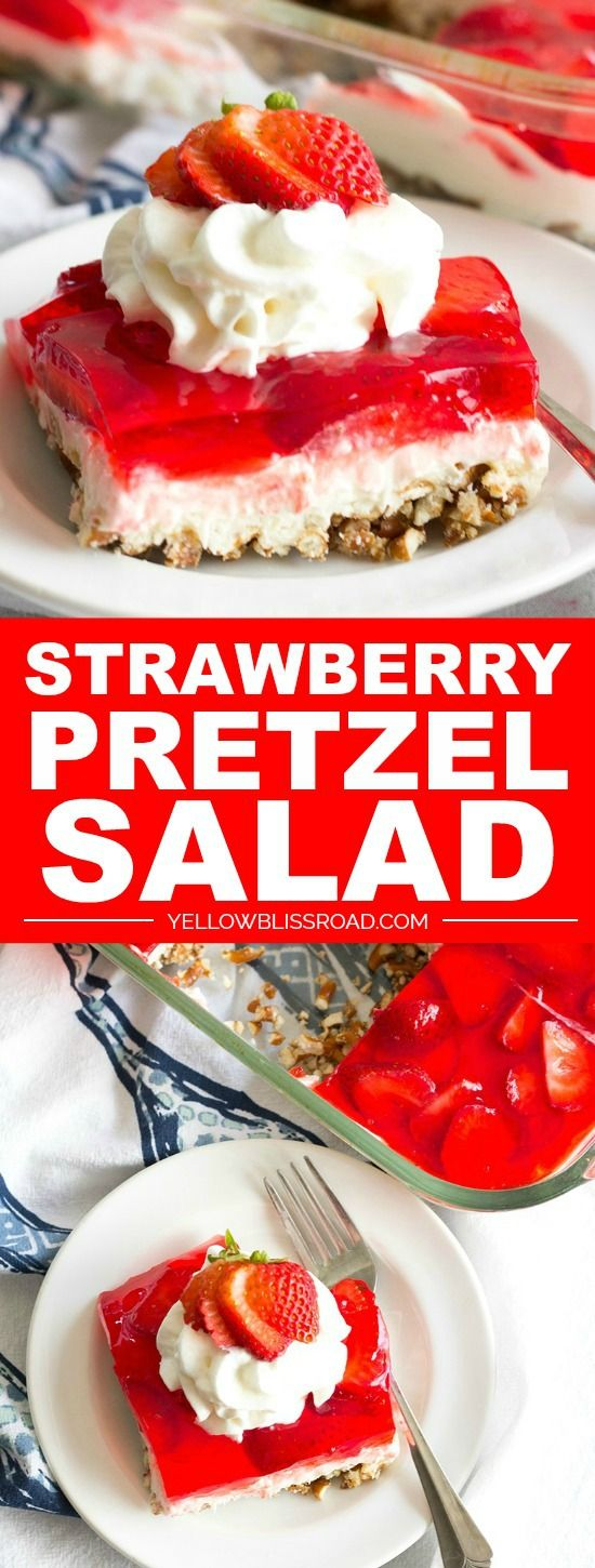 Strawberry Pretzel Salad is a classic summer dessert that's a must make for all your parties and backyard barbecues!