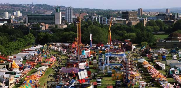 The Hoppings - Newcastle Town Moor. The largest travelling fair in Europe. Started as a victorian temperance fair now a popular showground on the Town Moor every June.