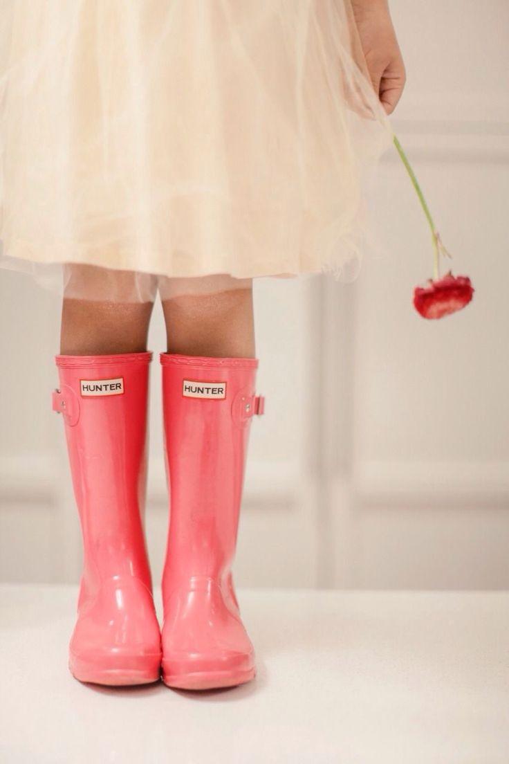 Kids Coral Hunter Rain Boots.