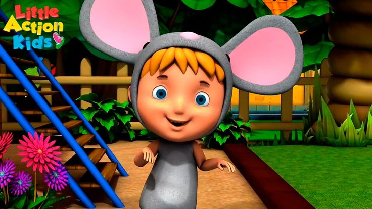 Hickory dickory dock the mouse ran up the clock nursery rhyme for kids. This is the BEST version of hickory dickory you will ever see! Sing along with the little action kids. #kidsnurseryrhymes