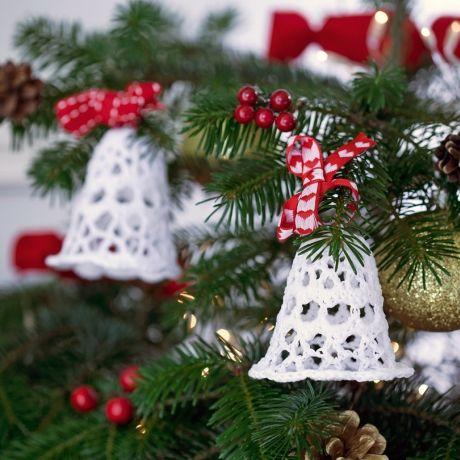 crochet bell Christmas tree ~ free pattern