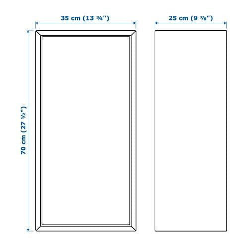 Eket Cabinet With Door And 2 Shelves White Bathroom Accessories
