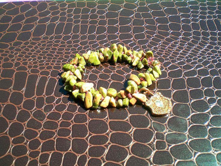 Green Agate Gemstone Chip  Bracelet; Hand Beaded, Green Agate, Agate Gemstone, Gift by JazzyDazzleJewelry on Etsy