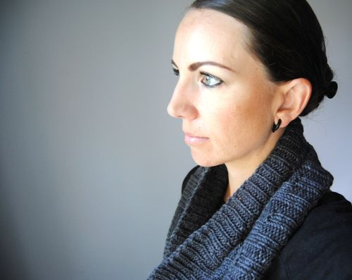 M A G N E T I T E   - Cowl design by Lisa Mutch -   Another stylish, ribbed cowl to add to your winter accessory collection. http://www.ravelry.com/patterns/library/magnetite-cowl