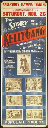 movie poster from 1905 the story of the kelly gang - Google Search