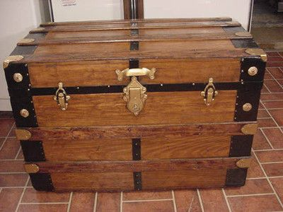 Antique steamer trunk. Refinished.