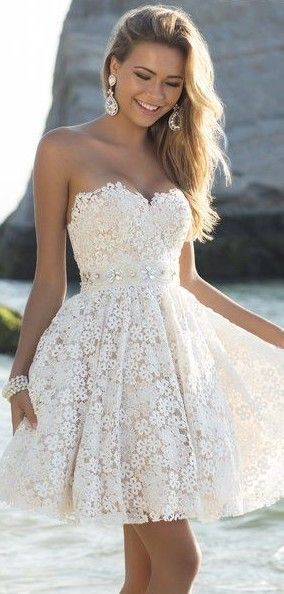 Lace Prom Dress,Short Prom Dress,Sexy Prom Gown,Homecoming Dress by fancygirldress, $125.00 USD