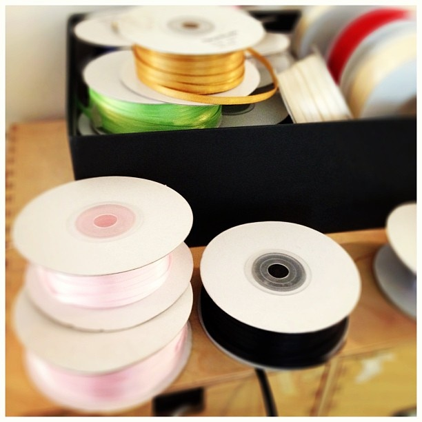 Gorgeous ribbon in beautiful colours for our Order of Services. #HoneyTree #CreateABuzz