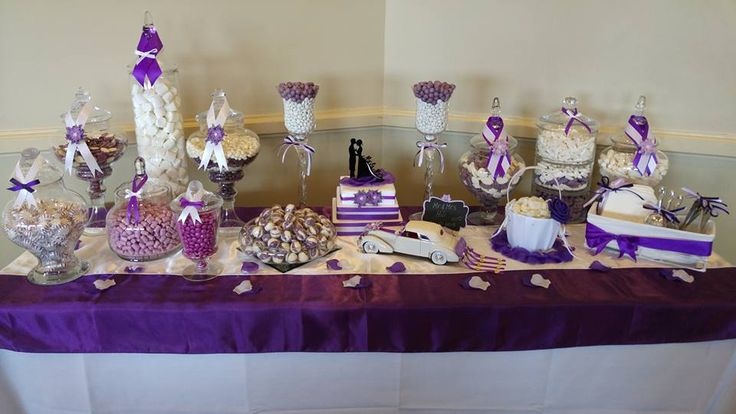 Purple and White Glamour Style Wedding......