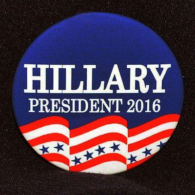 "Hillary Clinton Campaign Slogan | Obama Retirement Button TWO Button Set ""Guantanamo Bay Awaits"" 3.5 ..."