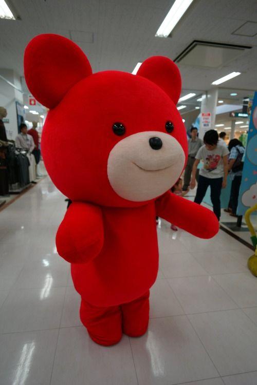 """【企業キャラ特集(2/5)】ブルボンが出しているお菓子、プチのキャラクター「プチクマ」。イラストに忠実な着ぐるみですね。 """"Petit-Kuma"""" Bourbon Corporation Japan, Niigata prefecture, Japan.Bear in a motif."""