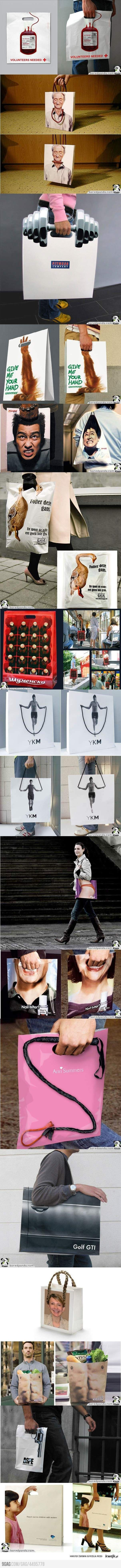 Amazing advertising on shopping bags