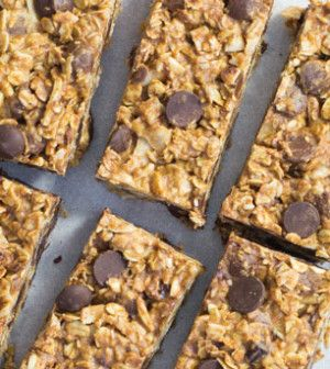 No-Bake Almond Butter & Chocolate Oatmeal Bars, a recipe I photographed for Clean Eating magazine